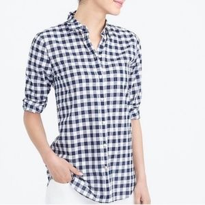 J.Crew Factory Gingham Button Down Shirt Size M